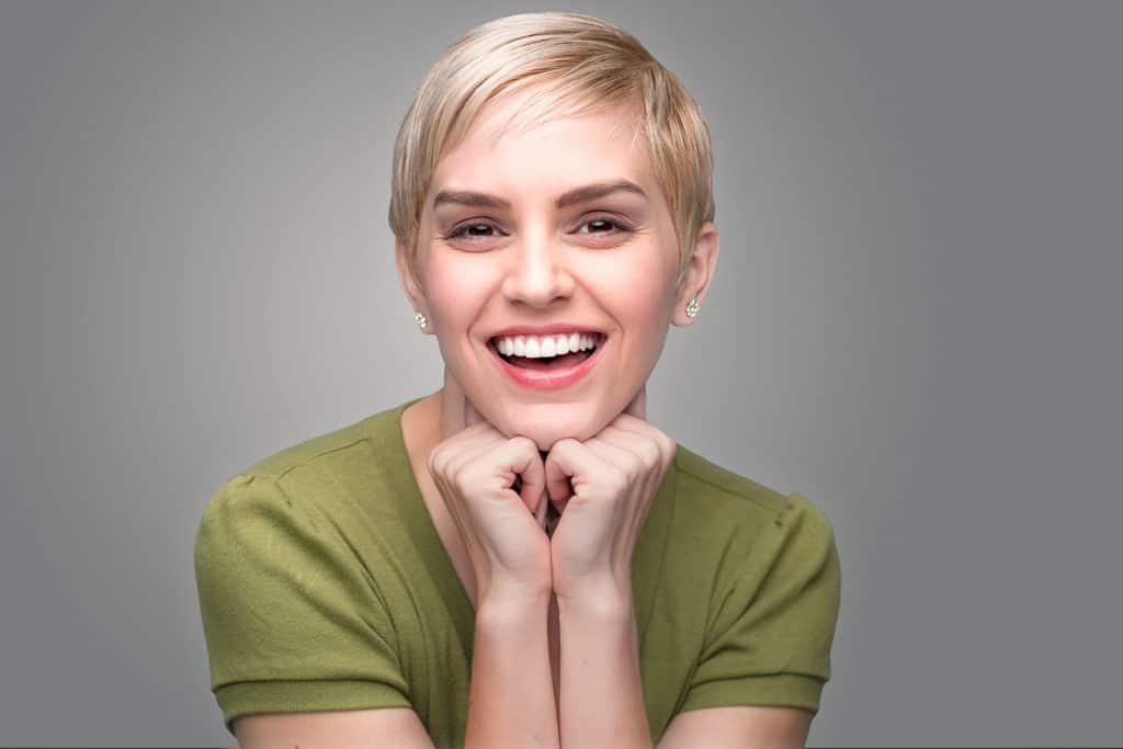 person with strong teeth