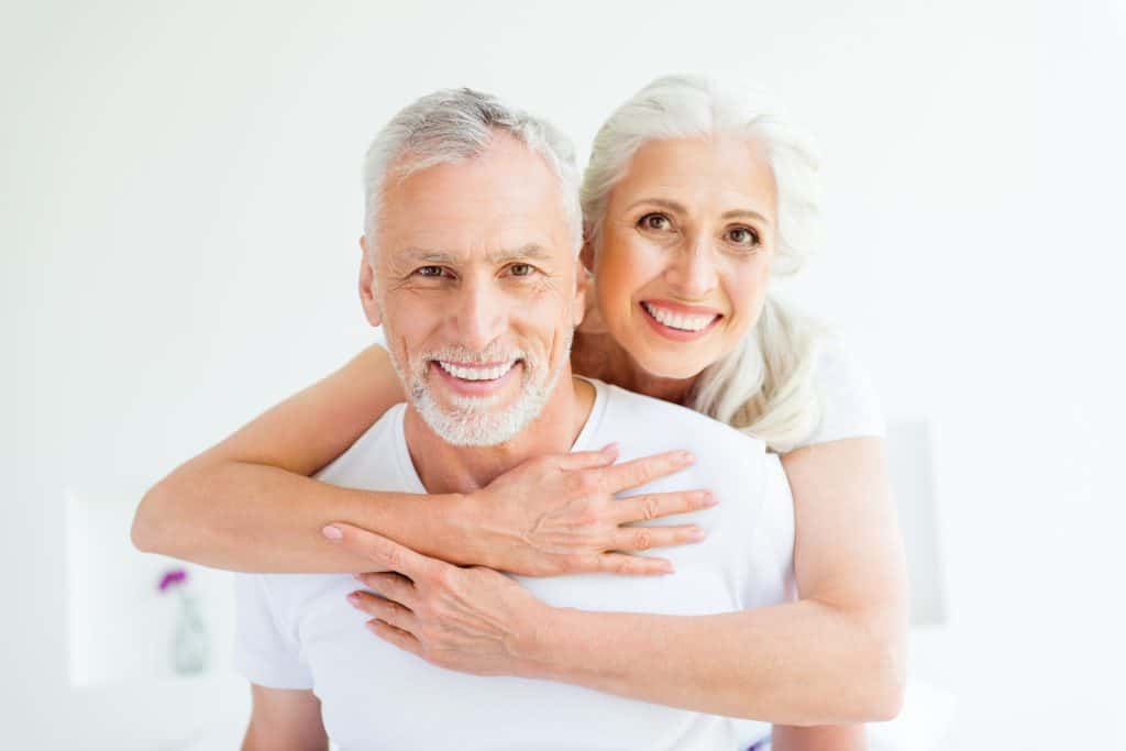 Couple showing off their smile